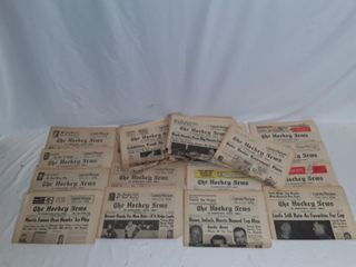 lot of old hockey news papers 1964