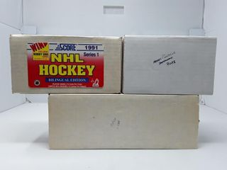 3 Boxes Of Hockey Cards