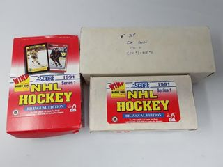Box Of Unopen Packs Of 91 Score Cards  Box Of 91