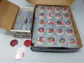 Box Of hockey Pogs  Over 35 Sheets of Pogs