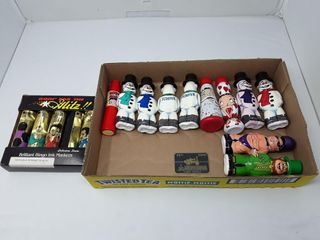 Box Of Collector Bingo Dabbers Snowman  Santa