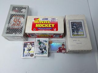Box of 1991 Score Cards  Box of 1990 1991 Topps