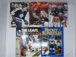 lot of  5  Hockey Magazines and programs the