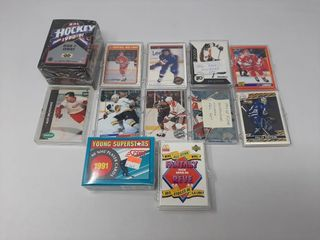 90 91 upper deck hockey cards  opc red army