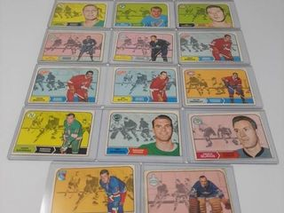 17 1968 69 Hockey Cards