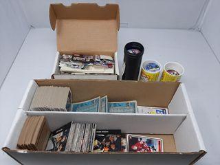 Hockey Pogs  Assortment Of Hockey Cards  Etc