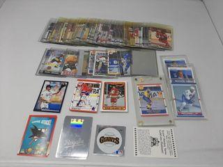 Assortment of hockey and baseball cards