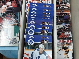 Box Full Of Hockey Cards