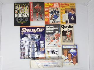 Gordie howe book and assorted magazines