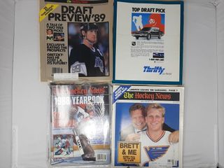 Assortment of hockey magazines