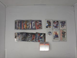 Assortment of hockey cards  upper deck SP