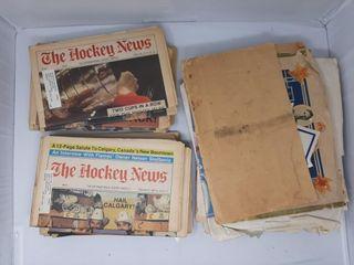 Hockey news and maple leaf crest  etc