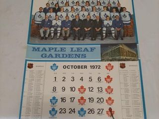 71 72 Old Toronto Maple leafs Calendars  largest