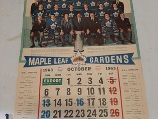 59 65 Old Toronto Maple leafs Calendars  largest