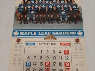 68 70 Old Toronto Maple leafs Calendars  largest