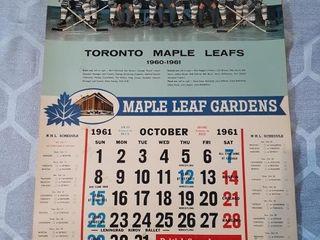61 62 Toronto Maple leafs Calendars