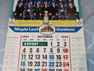 Toronto Maple leafs Calendars 64 And 79