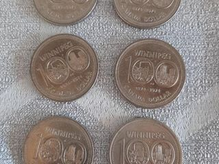 6 1874 To 1974 Winnipeg Canadian  1 Coins