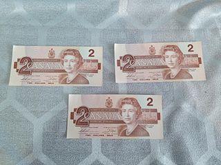 3 Canadian 1986  2 Bills