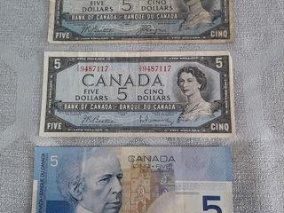 3 Canadian  5 Bills