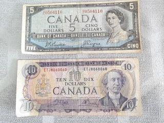 1 Canadian 1954  5 Bill   1 Canadian 1971  10
