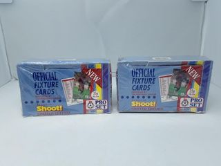 Two Boxes Sealed Official Soccer Fixture Cards