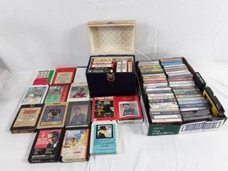 lot Of Old Eight track Tapes Consisting Of Gene