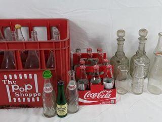 Coca cola Bottle Antique Pop Shop Bottle   Crate