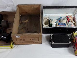 4 Motors  Wood Box  Power Adapter  First