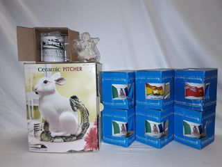 Ceramic bunny picture and Canadian collector