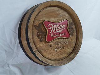 Hanging Plastic Miller Beer Sign