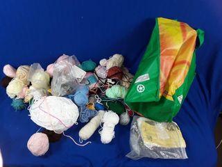 Bag of assorted yarn