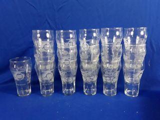 16 NHl Coca Cola glasses