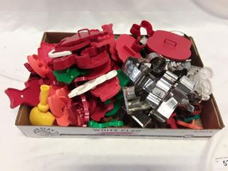 lot of baking cookie cutters
