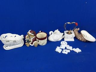 lot to include plant holders  knick knacks  etc