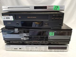 Curtis Dvd Player  Sony Tape Deck  Phillips Dvd
