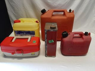 Various Sized Plastic Gas Cans  Aluminum Gas Can