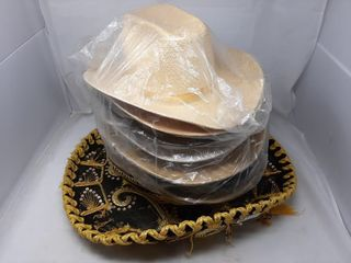 Hat lot With Mexican And Straw Hat