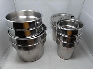 Metal Pots Of Various Sizes