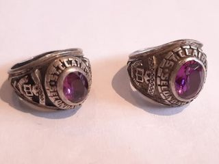 2 St clair School Rings  Marked Ster