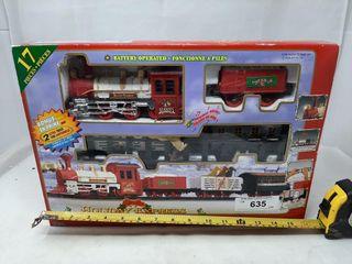 Holiday Express Christmas Train Set In Box