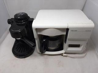 Mr Coffee espresso machine and Black and Decker