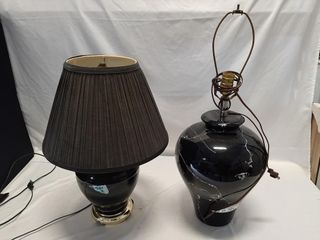 Pair of electric lamps  both working