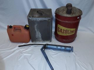 5 Gallon Gasoline Can Metal Can Grease Gun 1 25