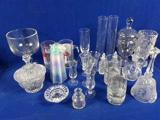 large lot Of Glass Ware  Candy Dishes  Cheese