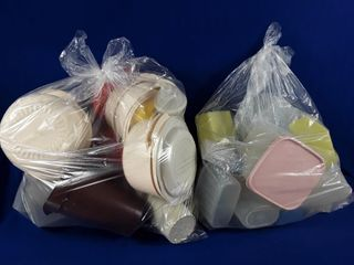 2 bags of Tupperware containers