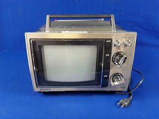 portable Sony TV trinitron colour TV receiver
