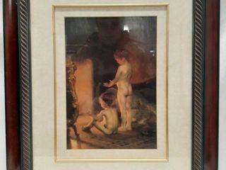 Framed matted art piece 21 1 4  x 25 1 4