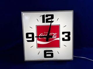 Vintage lighted Coca cola Clock