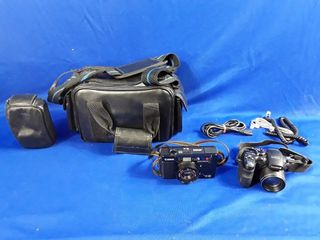 2 Camers And Carrying Case Fuji Pix S1000